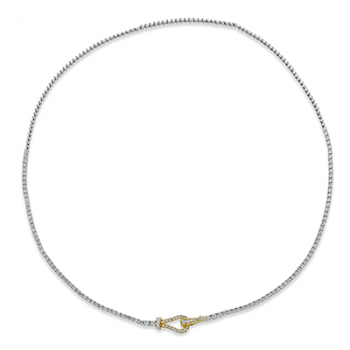 18K GOLD YELLOW & WHITE LP4527 NECKLACE