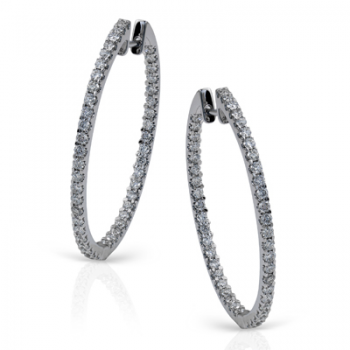 18K GOLD WHITE ME1405 HOOP EARRING
