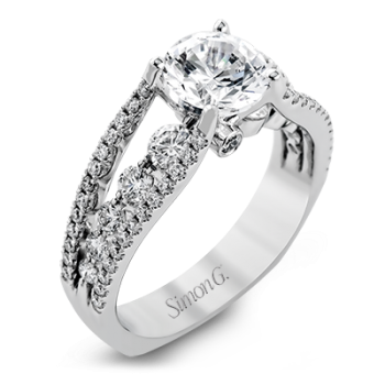 18K GOLD WHITE MR2248 ENGAGEMENT RING