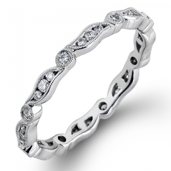 18K WHITE GOLD, WITH WHITE DIAMONDS. MR2290 - RIGHT HAND RING