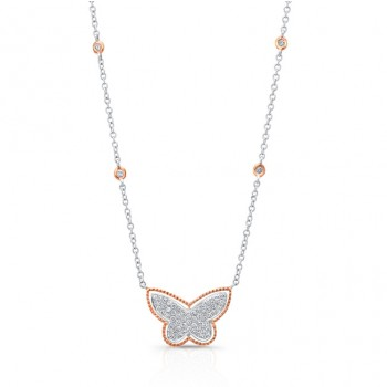 18K Butterfly Necklace