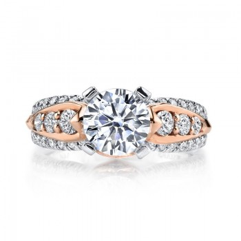MARS Diamond Engagement Ring, 0.82 Ctw.