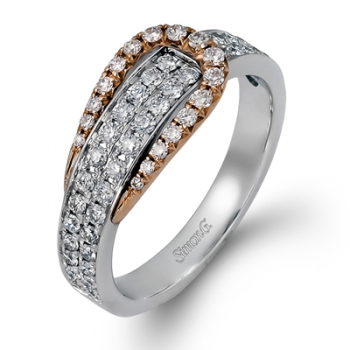 18K TWO TONE GOLD TR208 RIGHT HAND RING