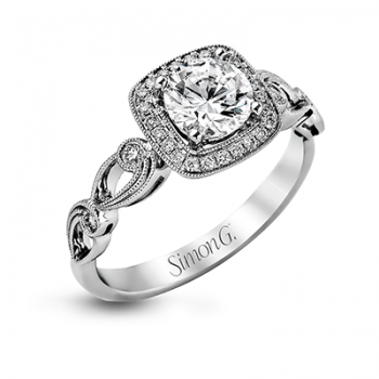 18K WHITE GOLD, WITH WHITE DIAMONDS. TR526 - ENGAGEMENT RING