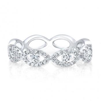 18k White Evil Eye Eternity Ring
